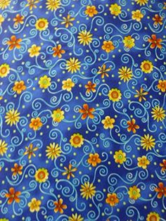 Topsy Turvy Flowers~Cotton Fabric, Quilt, Home Decor~Northcott~~Fast Shipping F538