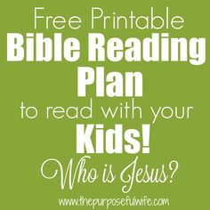 A new month is upon us, and with it comes a new free, printable Bible reading plan to share with your kids in family worship. My favorite. Family Bible Study, Bible Study Plans, Bible Plan, Bible Study For Kids, Bible Lessons For Kids, Kids Bible, Printable Bible Reading Plans, Scripture Reading, Bible Verse For Moms