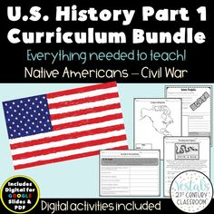 Want to save time planning your U.S. History curriculum throughout the year? U.S. History Curriculum Part 1 comes with EVERY lesson and activity needed! #vestals21stcenturyclassroom #ushistory #ushistorylessons #ushistorycurriclum #ushistoryactivities #ushistoryworksheets