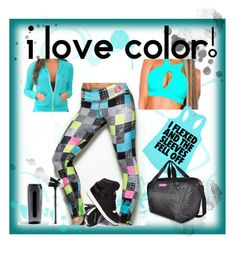 """Aqua LOVE!"" by ronitaylorfit ❤ liked on Polyvore featuring Trimr"
