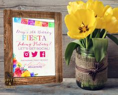 Colorful Watercolor Papel Picado, Floral Fiesta Bridal, Baby Shower, Birthday, Social Media Sign Custom Hashtag (Bright Colors) DIGITAL FILE by JupiterAndMarsPrints on Etsy https://www.etsy.com/listing/239386692/colorful-watercolor-papel-picado-floral