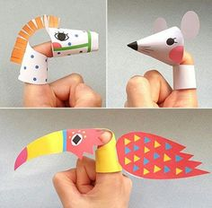 marionetas de dedo para imprimir