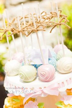 I want to decorate cake pops like this...?