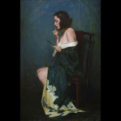 Aaron Westerberg. 'Lipstick'. 24 x 16 inches. Oil on board.