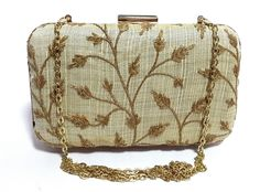 Women Girl Golden Evening Party Wedding Clutch With Sling #Unbranded #Clutch