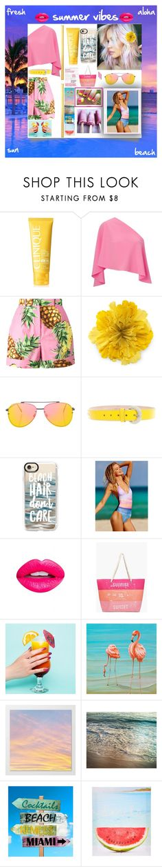 """""""🌞summer vibes🌞"""" by olivia204 ❤ liked on Polyvore featuring Clinique, Roland Mouret, Dolce&Gabbana, Gucci, Topshop, D&G, Casetify, Nevermind and Boohoo"""
