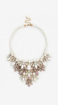 rope and stone statement necklace