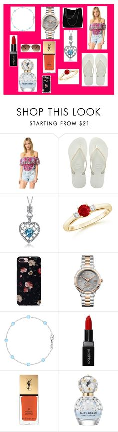 """BBQ with Ohana"" by bexie16 on Polyvore featuring Camilla, Havaianas, Vivienne Westwood, Smashbox, Yves Saint Laurent, Marc Jacobs and Ashley Stewart"