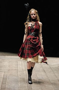 Creations by the late British designer Alexander McQueen are displayed during a preview at the Metropolitan Museum of Art in New York,...