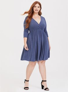 57297999bb4 Something About You Ankle Jeans II - Medium Blue Wash. See more. Blue  Heather Jersey Skater Dress