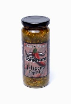 Texas Longhorn Bread and Butter Jalapeno Party Dip Mix. I had picked a bottle of this up at Sam's Club and served it mixed with cream cheese on Easter. Everyone loved it! I highly recommend it!