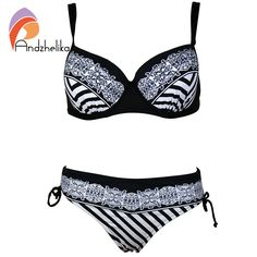 Andzhelika Swimsuit 2016 New Bikinis Set Floral Diamond Plus Size bathing suit Swimwear Women maillot de bain femme AK16-029