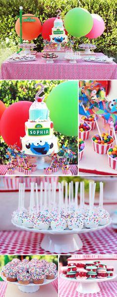 Sesame Street Themed Birthday Party