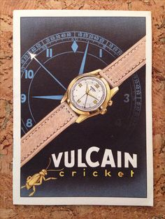 Original 1950s Vulcain Cricket alarm watch instructions booklet in mint condition. Image: finest hour vintage
