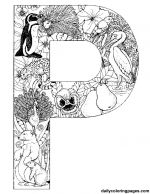 Beautiful Animal Alphabet letters as coloring pages!
