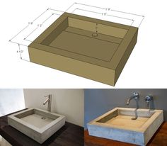 "DC Custom Concrete Vessel Sink - ""The Tre""I think either faucet would work for us"