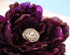 Eggplant Floral Dog Collars, Purple Floral Dog Collar, Eggplant, Pet wedding accessory - LA Dog Store  - 1