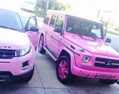Dencia Unleashes Her Hot Pink Mercedes Benz G Wagon On The World Mercedes Benz, Mercedes G Wagon, Fancy Cars, Cool Cars, Maserati, Lamborghini, Pink Range Rovers, Lux Cars, Pink Cars