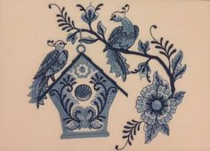 A personal favorite from my Etsy shop https://www.etsy.com/listing/541778207/delft-blue-birdhouse-6
