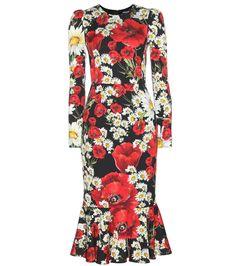 DOLCE & GABBANA Silk Floral-Printed Dress. #dolcegabbana #cloth #dresses