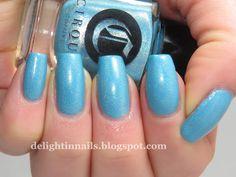 Delight In Nails: 40 Great Nail Art Ideas - Pale Blue Base