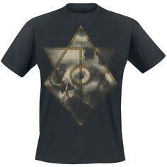 "Classica T-Shirt nera ""Jesterhead Skull "" degli #InFlames."