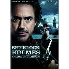 """""""Sherlock Holmes: A Game of Shadows"""" - Sherlock Holmes and his sidekick Dr. John Watson join forces to outwit and bring down their fiercest adversary, Professor Moriarty. (Again, Sherlock Holmes + Robert Downey Jr. + Jude Law = my undivided attention. Film Movie, See Movie, Movie List, Sherlock Holmes, Watch Sherlock, Sherlock Poster, Jude Law, Holmes Movie, Robert Downey Jr."""