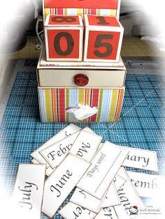 Teacher Gifts- Calendar Cube Tutorial