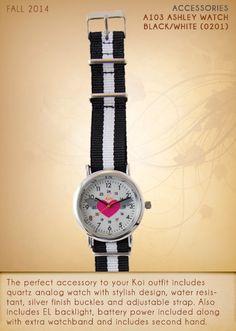 A103 ASHLEY Watch | A103-0201 (Black/White)