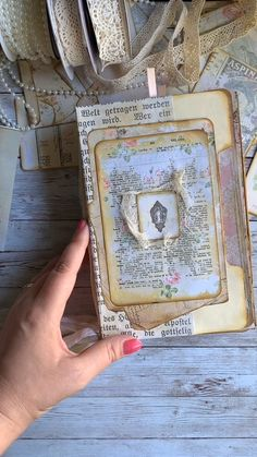 """Create this shabby chic vintage style """"Grandma's Attic"""" junk journal from start to finish. Learn how to make a cover, pages, embellishments & inserts. From My Porch Prints. Junk Journal, Journal Cards, Journal Paper, Bullet Journal, Mini Scrapbook Albums, Scrapbook Journal, Scrapbook Cards, Mini Albums, Kunstjournal Inspiration"""
