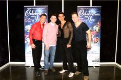 Ray with Celebrities On Ice co-stars Kyran Bracken,Chico Slimani and Colin Ratushniak