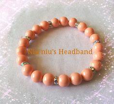 Swarovski pink coral pearl bracelet