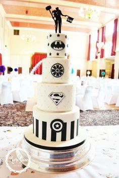 Superhero Wedding Cake