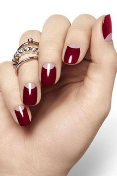 15 Holiday Nail Art Ideas from Pinterest | Daily Makeoverthe half moon is so easy with our wraps