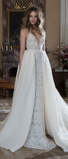 Berta Bridal Fall 2015 - Wedding Dresses with Detachable Skirts