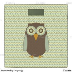 Brown Owl Bathroom Scale