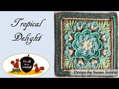 Tropical Delight - Crochet Square [Free Pattern and Video Tutorial] The Tropical Delight Square designed by Susan Stevens will be perfect for your next project. You can use only one square to add an eye-catching accent to your project or to make a worm and cozy blanket in the winter time.