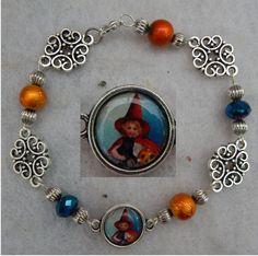 Vintage Style Witch Link Bracelet Jewelry Handmade NEW Multi-Color Halloween   #Handmade #Chain http://www.ebay.com/itm/-/161864395218?