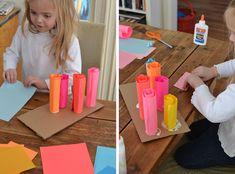 Rolled Paper Sculptures - Art Bar Pre-K and Kindergarten :-)