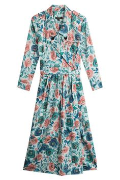 New Burberry Printed Cotton Dress with Mulberry Silk fashion online. [$897]?@shop.sladress<<