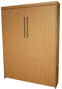 Melamine Murphy Bed Economy Style    Still Pretty Good Looking When  Incorporated With The Side