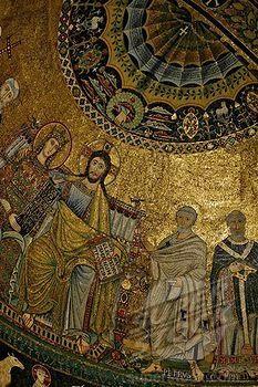 , Apse mosaics, Santa Maria in Trastevere, Rome, Italy