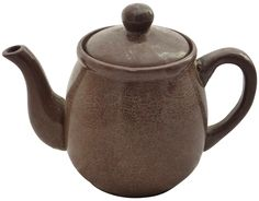 Mid-Century Brown Studio Pottery Tea Pot on Chairish.com