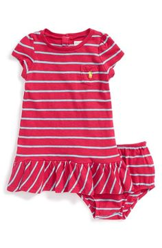 Ralph Lauren Stripe Jersey Dress  amp  Bloomers (Baby Girls) available at   Nordstrom ff78b09a96b