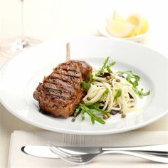 Looking to change your char-grilled steak and vegies repertoire? Well this tender char-grilled veal with its zippy pasta and rocket side should fit the bill just nicely...its delicious!