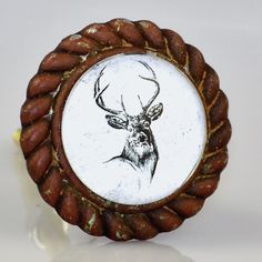 "SO FUN FOR CHRISTMAS TIME. EASY TO SWITCH KNOBS FOR THE SEASON Hunt Club Decor. 1.75"" diameter. $8.50 EACH sold in multiples of 2."