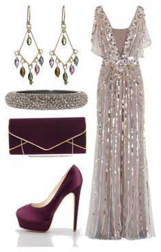 """""""A fancy night out!"""" by sparklysharpfabulous ❤ liked on Polyvore featuring Temperley London, Nikki Baker, Brian Atwood, Lane Bryant, sparkly, reception, glitter dress and wedding"""