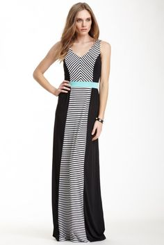 S.H.E. | S.H.E. Made in NYC Striped Panel Maxi Dress | Nordstrom Rack