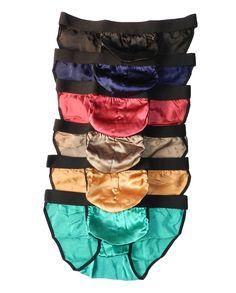 """6 Pieces 100% Pure Silk Men's Underwear Bikini Briefs Size L (W29""""-32"""")"""
