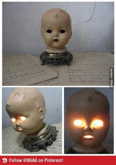 I wonder if there's a market for scary baby doll head lamps?